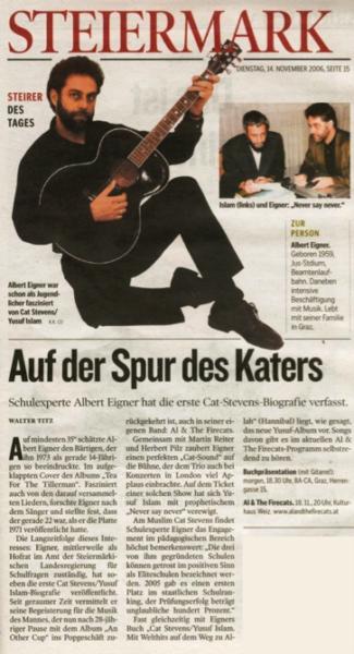 Kleine Zeitung, Steirer des Tages, November 2006